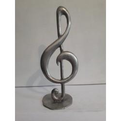 sculpture en métal clé de sol