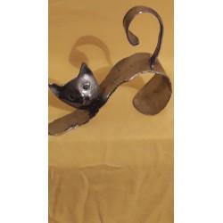 sculpture Chat en étain
