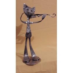 Sculpture Chat musicien...