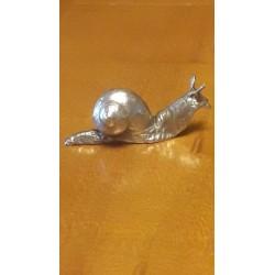 sculpture escargot en étain