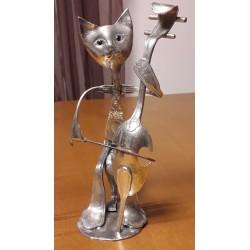 sculpture Chat violoncelliste