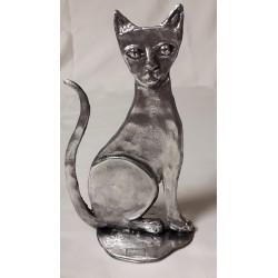 sculpture en métal Chat...