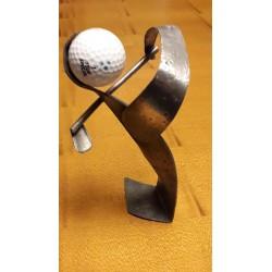 sculpture en étain golfeur...