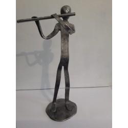 sculpture en métal flûtes...
